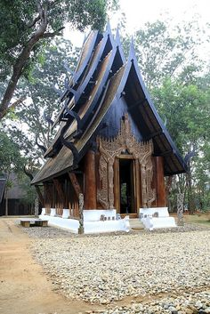 black artist's house, Thailand