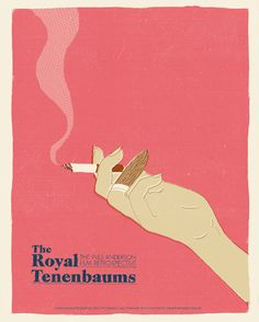 The Royal Tenenbaums (2001)  ~ Minimal Movie Poster by Chris Schwartz ~ Wes Anderson Series