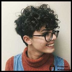 27 Easy Tips For Short Curly Pixie Ideas & Designs, short curly pixie haircut natural, short curly pixie videos, short curly pixie cut, short curly. Curly Pixie Haircuts, Short Curly Pixie, Best Short Haircuts, Curly Hair Cuts, Short Hair Cuts, Curly Hair Styles, Pixie Cut, Very Short Hair, Short Hair With Bangs