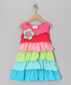 Take a look at this Rainbow Ruffle Tunic - Toddler & Girls by Cheeky Smyle on #zulily today!