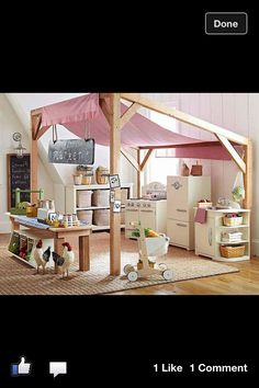One day when I go back to teaching - it can be a playhouse, it can be a store, it can be a stage, etc.  Hmm...this would even work outdoors.  Get some Sunbrella fabric...