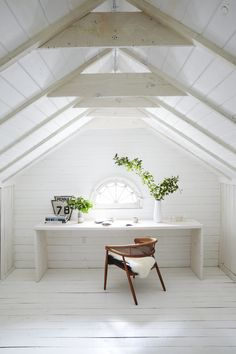 i could just lay down wood planks and paint everything (except some beams) white