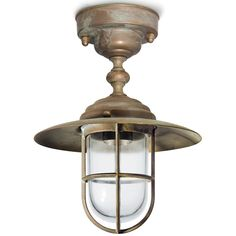 Tuscanor - Brass Porch Flush Light - TUS164F