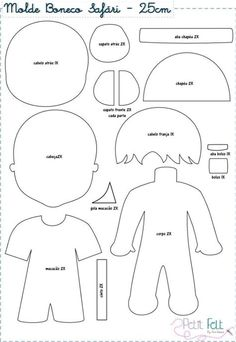 Doll Crafts, Diy Doll, Sewing Crafts, Sewing Projects, Felt Doll Patterns, Felt Crafts Patterns, Quiet Book Templates, Quiet Book Patterns, Felt Quiet Books