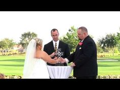"▶ Eagle Creek Golf Club Wedding ""Unity Cross Ceremony"" - YouTube"