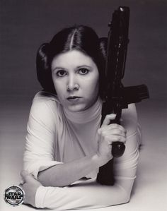 Princess Leia~when you glimpse your first girl hero at a drive in with your parents. Thanks George!