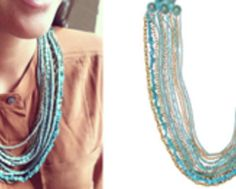 Statement necklace over a collared shirt - my new favorite look! http://www.facebook.com/C.I.Jewelry