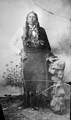 Quanah (aka Fragrance, aka Quanah Parker) - Comanche/Scots-Irish - 1890