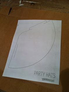 DIY Birthday Party Hat Template