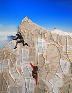 Awesome Collages of Paper Mountain Climbers - My Modern Metropolis