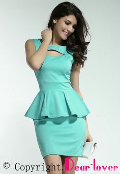 Dress Skirt, Peplum Dress, Love My Body, Busa, Office Wear, Casual Outfits, Casual Clothes, Pretty Dresses, Princess