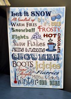 Winter Decor: January Printable Subway art