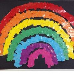 41 Best Rainbow Craft Idea Images Crafts For Kids Kid Crafts Day