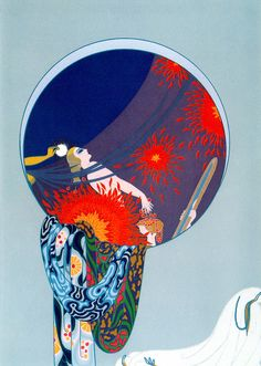 The ~ Artworks of Erté Romain De Tirtoff and containing the word erté , romain de tirtoff, art deco, women Estilo Art Deco, Arte Art Deco, Moda Art Deco, Art Deco Artists, Art And Illustration, Art Nouveau, Erte Art, Romain De Tirtoff, Decoupage