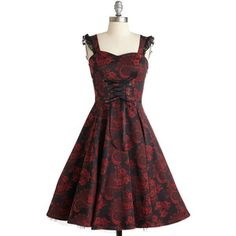 Steampunk Sleeveless Fit & Flare Moxie-turvy Dress by ModCloth