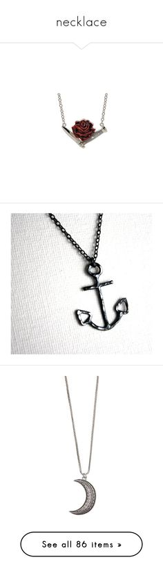"""""""necklace"""" by ejoygnow ❤ liked on Polyvore featuring jewelry, necklaces, accessories, acessorios, colares, sterling silver anchor necklace, sterling silver anchor pendant, hammered jewelry, sterling silver anchor jewelry and anchor necklace"""