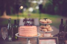 rustic desert table ideas http://www.weddingchicks.com/2013/09/27/pink-and-cream-wedding/