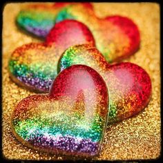 #glitter #hearts #love