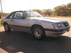 My first car, an '84 Ford Mustang only mine was white.
