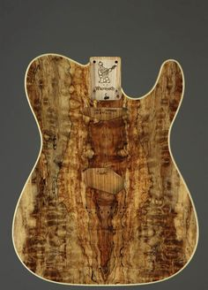 Highly Figured Spalt Maple on Swamp Ash. Warmoth Custom Guitar Products - Telecaster® Guitar Replacement Body