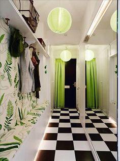 I wish I had a nice hallway like this Hallway Closet, Entry Hallway, Small Hallways, Hall Design, Design Design, Compact Living, New Furniture, Home Decor Inspiration, Sweet Home
