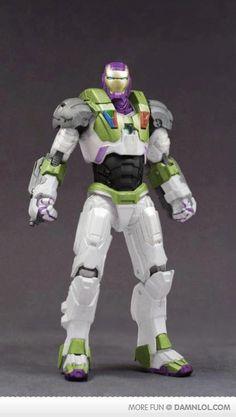 Buzz Lightyear inspired Iron Man