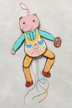 Anthropologie Animal Pull Puppet #AnthroFave