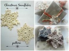 crochet pattern for snowflakes