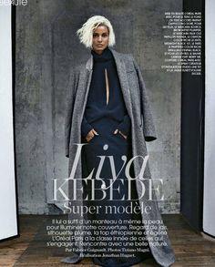 Liya Kebede Goes Bleach Blonde For Marie Claire France via @WhoWhatWear
