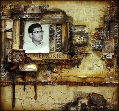 Welcome to Week 22of my Tuesday's Texture blogseries, where each Tuesday I'm sharing a piece of textured art that caught my eye somewhere in the Blogosphere. Thismasculine mixed media layoutcom...