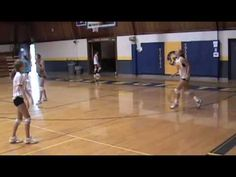 Volleyball: Setters Pass 4s (basic, side step, quick pulses, & up and turn)