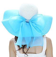 Women's Summer Wide Brim Beach Hats Sexy Chapeau Large Floppy Sun Caps (Blue) 30th floor http://www.amazon.com/dp/B01BZP4NBA/ref=cm_sw_r_pi_dp_saF.wb0R6PSYM
