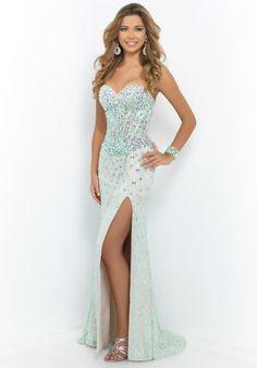 Blush Corset Bodice Prom Dress 9933