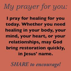 Prayer for others in need