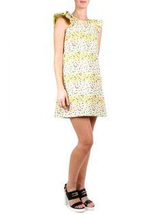 GIAMBA Giamba Yellow Dress With Floral Print. #giamba #cloth #dresses