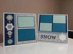Winter Snow Scrap pages