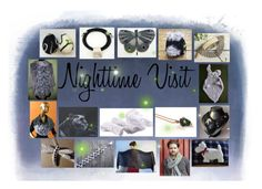 """""""Nighttime Visit: Handmade and Vintage Gifts"""" by paulinemcewen ❤ liked on Polyvore featuring vintage"""