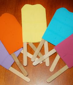 Recycled Craft: Toilet Paper Tube Popsicles for Kids - pretend play