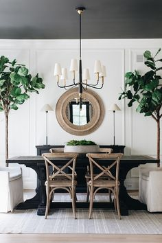Black ceiling paint color Charcoal Gray Ceiling Paint Color Ceiling Paint Color Benjamin Moore Wrought Iron Walls are Simply White by Benjamin Moore farmhouse Dining Room Home Bunch Interior Design Ideas Farmhouse Dining, Room Design, Interior, White Dining Room, Farmhouse Interior, Home Decor, House Interior, Dining Room Decor, Farmhouse Interior Design