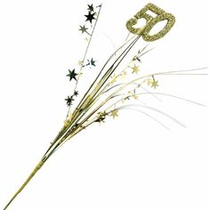 50th Anniversary Gold Centerpiece Spray - too glittery, but research similar items