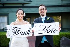 What a cute way to make thank-you notes! This is for a wedding, but I bet we could do this for the girls' birthdays.