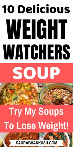 Easy Weight Watchers Soup Recipes With SmartPoints – My Zero Points Weight Watchers Soup Freestyle Recipes are cheap and easy to cook. We have chicken, cabbage & crockpot weight watchers soups. Make our Weight watchers soup and enjoy them today. Weight Watcher Desserts, Weight Watchers Snacks, Weight Watchers Smart Points, Weight Watcher Dinners, Weight Watchers Chicken, Weight Watchers Cabbage Soup Recipe, Ww Recipes, Soup Recipes, Cooking Recipes