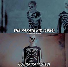 The Karate Kid 1984, Karate Kid Movie, Karate Kid Cobra Kai, Cobra Kai Wallpaper, Skull Wallpaper, Iconic Movies, Great Movies, 80s Movies, Funny Animal Jokes
