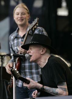 Johnny Winter & Derek Trucks, Johnny passed away 7/17/14 at the age of 70.