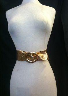 50s GOLD Cinch Belt 1950s Sz 24-28 Waist by Flipsville on Etsy