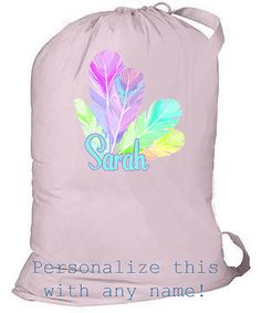 Laundry bag for college, personalized laundry bag, large canvas backpack, graduation gift, grad gift, summer camp bag, overnight bag, tote by ColorStyleDesign on Etsy https://www.etsy.com/listing/160818743/laundry-bag-for-college-personalized