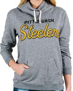 aabd93fe5fe8a Pittsburgh Steelers Junk Food Clothing Sunday Cowl Neck Hooded Sweatshirt   59 L  JunkFood  PittsburghSteelers