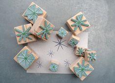 Handmade Star Rubber Stamp Set on Etsy.