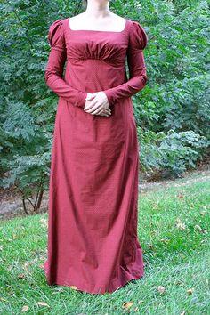 regency dress | Melissa's Regency Day Gown with Undersleeves ~ Sense & Sensibility ...