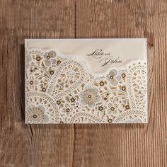 1Pcs Wedding Party Invitation Card Romantic Decorative Cards Envelope Delicate Carved Pattern Wedding Invitations Party Supply